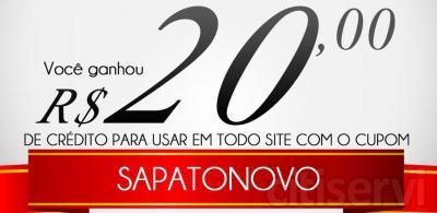Promoção Válida para todas as compras realizadas na loja:  http://sapatosmania.com.br/